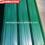 Chapa de aço de telhado ondulado para material de construção