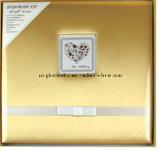 Qualität Customed silberner Textilverpackung-Hochzeits-Einklebebuch-Album-Installationssatz