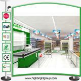 Estante de la góndola del supermercado del estilo de la manera para la visualización