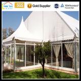 Tente imperméable à l'eau de chapiteau d'usager de pagoda du Nigéria Afrique d'envergure d'espace libre de crête élevée de blanc de PVC de tissu de mariage d'événement de toile en aluminium imperméable à l'eau extérieure de Guangzhou