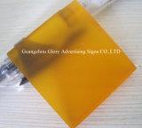 Moldeada de plástico transparente Hoja de acrílico para la publicidad de la muestra