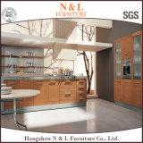 N&L MDF Veenerの木製の穀物の食器棚