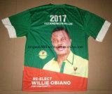 Chemises courtes estampées nigériennes personnalisées d'élection présidentielle de voix annonçant le T-shirt