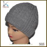 Chapeau de tricotage de Flexfit d'hommes de Slouch gris en gros de Beanies