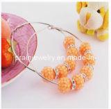 La primavera de la moda de joyería de Pendientes de Aleación de zinc con colgante chapado en oro perlas Cristal Diamante Shambala (PE-025)