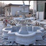 Trois ont fatigué la fontaine grise de granit pour un cadeau Mf-981