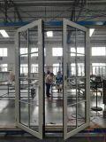 Qualität kundenspezifische französische Aluminiumtür mit der Doppelverglasung