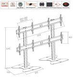 """O carrinho video Floorbase 4 da parede seleciona 40-55 """" (2*2) (AW 400A)"""