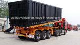 3 assi elevano il rimorchio dello scheletro del deposito semi per il trasporto di contenitore