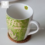 Tazas de cerámica de China de la carrocería de la insignia blanca de /Company