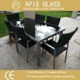 "3/8 "" de vidro Tabletop Tempered personalizado fábrica para a mesa de centro"