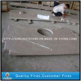 Cozinha da pedra do granito do amarelo da oxidação G682/partes superiores contrárias baratas personalizadas