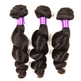 Cabelo brasileiro do Virgin 3 da extensão não processada do cabelo humano do Virgin da classe dos produtos de cabelo 8A pacotes do pacote brasileiro do Weave do cabelo