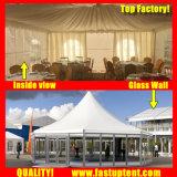 für Miete-transparentes Hexagon-Zelt für Ereignis-Durchmesser 12m 200 Leute Seater Gast