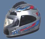 De Helm van het volledig-gezicht (111-zilver)