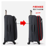 Фабрика делает классический черный мешок вагонетки дела, прочный мешок багажа перемещения ткани Оксфорд, напольный чемодан вагонетки с колесами