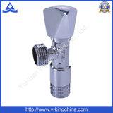 Válvula de ângulo de bronze cromada manual para máquina de lavar roupa (YD-5009)