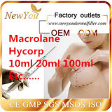 Llenador cutáneo ácido de Hyaluroic para ODM plástico 1ml 2 ml 10ml del OEM de los enchufes de fábrica 20 ml