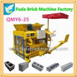 Машина блока большой емкости Qmy6-25 передвижная для кирпича бетонной стены