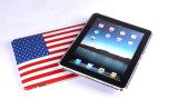 Les séries de drapeau de CaNational garnissent en cuir la caisse pour l'iPad-USAse pour l'iPad avec le clavier de Bluetooth (YF-204B)
