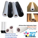 Rodillo del papel de transferencia de la sublimación de la alta calidad 120GSM de Jd para la impresión de materia textil de Digitaces