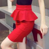 Le crayon Hip de jupe de module élevé élastique de taille borde la jupe de femmes