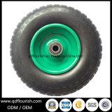 Roda da espuma do plutônio da polegada do pneu contínuo 13X4 para o trole do carro