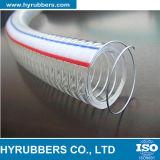 Boyau renforcé transparent de fil d'acier de PVC de Hyrubbers