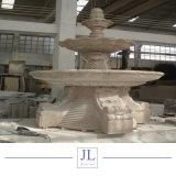 Naturel crème fontaine de marbre sculpté à la main