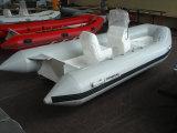 Bateau gonflable de pêche 4.20m de sports de la nervure 420 avec l'approbation de la CE