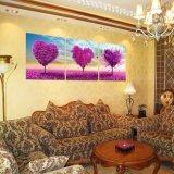 3 stuk Heet verkoop het Moderne het Schilderen van de Boom van het Muurschilderij Beeld van de Kunst van de Muur van het Huis Decoratieve die op Af:drukken mc-184 wordt geschilderd van het Huis van het Canvas