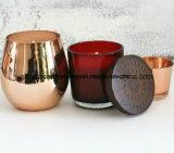 Sostenedor de vela de cristal del Mercury para la decoración de la Navidad