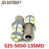 lampadine automobilistiche dell'automobile di parcheggio delle lampadine 13LEDs LED di 12V/24V S25 5050
