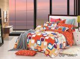 stellte reine Baumwolle 40s mit reagierender gedruckter Bettwäsche ein (YH001A/B)