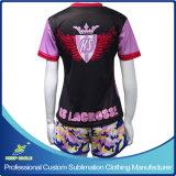 顧客用昇華女の子のスポーツのラクロッスのスーツ