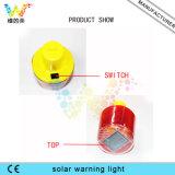 太陽動力を与えられた容易な分割払込金の警告点滅標識のストロボライトボタン制御
