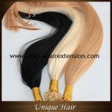 공장 가격 금발 색깔 편평한 끝 각질 머리 연장
