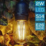 IP65 Commerical HochleistungsS14 LED imprägniern Birnen-Zeichenkette-im Freienlichter Heizfaden-Birnen-Zeichenkette mit SAA Cer-Bescheinigung