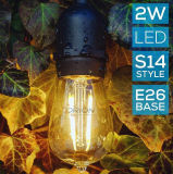 IP65 Commerical S14 LED 전구 끈 옥외 빛은 SAA 세륨 증명서를 가진 필라멘트 전구 끈을 방수 처리한다