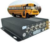 4CH DVR Móvel Use cartão SD com 1080P Câmara Manual integrar 3G WiFi GPS