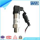 Transmissor de pressão de tamanho pequeno, ISO9001, para medição de gás, personalização / OEM disponível