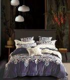 Conjunto de tampa de cama de molas de luxo suave suaves lençóis de algodão egípcio edredão de plumas Conjunto da Tampa