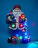 Weihnachtsdekoration-Schneemann 9 '' LED u. musikalischer Schneemann mit drehendem Schneemann nach innen, 8 Weihnachtslied-Musik
