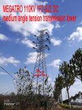 Torretta media della trasmissione di tensionamento di angolo di CC di Megatro 110kv 1f2-Sj2