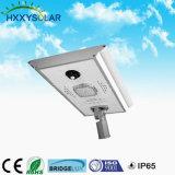 10W-100W太陽電池パネル、コントローラおよび電池の統合された太陽庭ライトが付いている太陽LEDの街灯