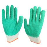 Nuovi guanti lisci verdi della mano del lattice per l'accumulazione di immondizia