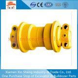 A estrutura da máquina escavadora parte o rolo da trilha/rolo inferior para as peças de maquinaria