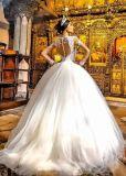 Robe de mariage nuptiale de robe de mariage de Ballgown de longue chemise (BH006)
