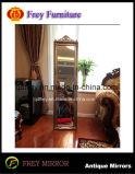 Specchio di vetro di legno popolare del pilastro di Platane con oro antico