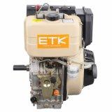 Moteur diesel portatif refroidi par air à la maison de cylindre simple d'utilisation (16HP)